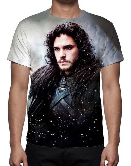Camisa, Game Of Thrones 7ª Jon Snow - Estampa Total