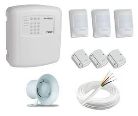 Kit Alarme Alard Max Ecp C/ Discadora Telefônica +6 Sensores