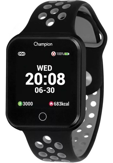 Relógio Champion Smart Watch Ch50006d Preto Cinza