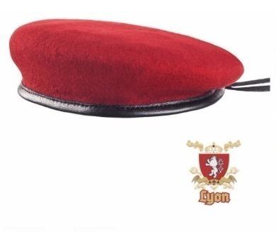 Boina Francesa Militar Lyon Vermelha