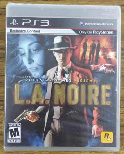 L.a. Noire. Ps3. Nuevo Y Sellado