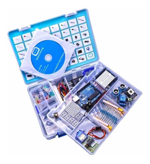 Starter Kit Arduino Uno R3 O Mais Completo +cd Frete Grátis