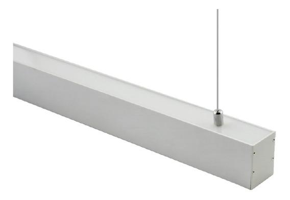 Lámpara Led Luminaria Lineal Colgante Doble Luz (20/10)30w