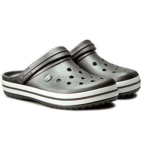 Crocs Crocband Originales -graphite Blanco