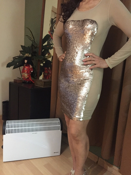 Vestido Muy Sexy Con Lentejuelas.