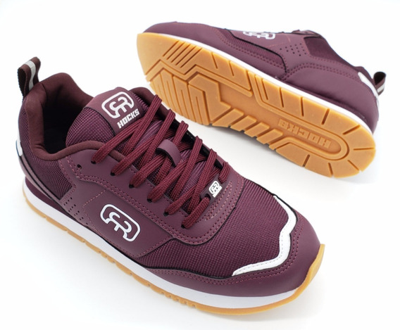 Tênis Hocks Nuv Skate Sneaker Bordo Vinho Masculino Original
