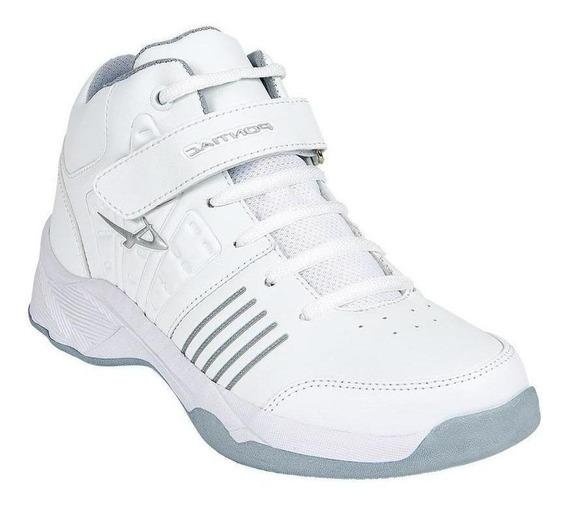 Calzado Juvenil Niño Tenis Tipo Piel En Blanco Cómod Pontiac