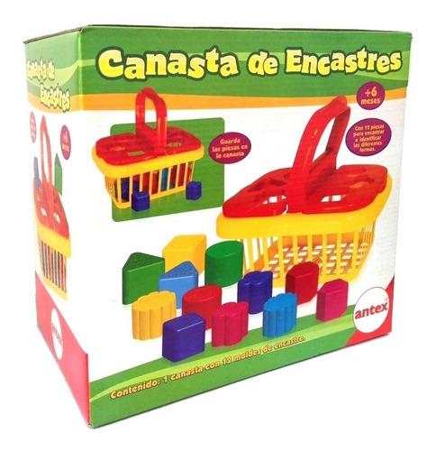 Juego De Encastre Para Bebe Canaste Antex Educando Full