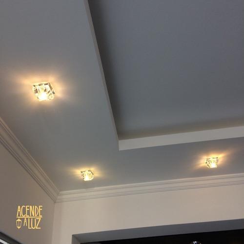 6 Spot Cristal Embutir G9 Gesso Corredor Sala Banheiro Ac661 Mercado Livre