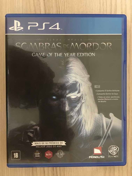 Jogo Ps4 - Sombras De Mordor Game Of The Year Edition