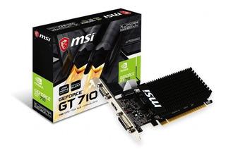 Placa de video Nvidia MSI GeForce 700 Series GT 710 GT 710 1GD3H LP 1GB