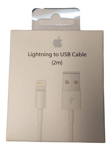 Imagen 1 de 5 de Cable Usb Lightning Original Apple iPhone 2 Mts A1510