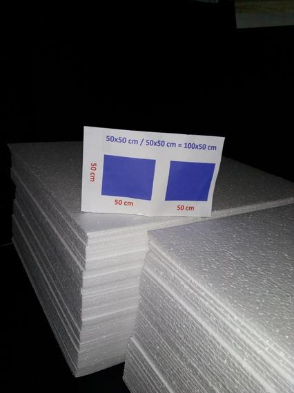 Isopor Em Placa 50cmx50cmx005mm Cx C/ 100- *saõ Paulo*