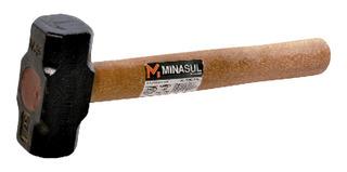 Marreta Minasul 1,5kg Ferro Fundido Com Cabo Madeira