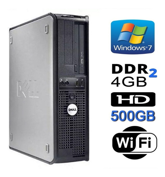 Cpu Dell Mini Optiplex Dual 4gb Hd 500gb Dvd Wifi