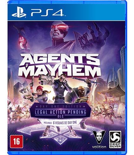 Agents Of Mayhem Day One Edition Ps4 Mídia Fisica Lacrado