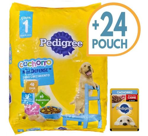 Comida Pedigree Para Perro Cachorro 21 Kg + 24 Pouch + Envío