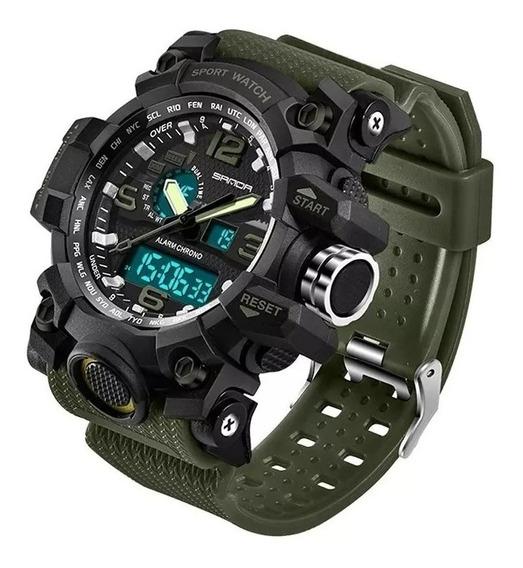 Relógio Militar Masculino Sanda 742 Verde Exército