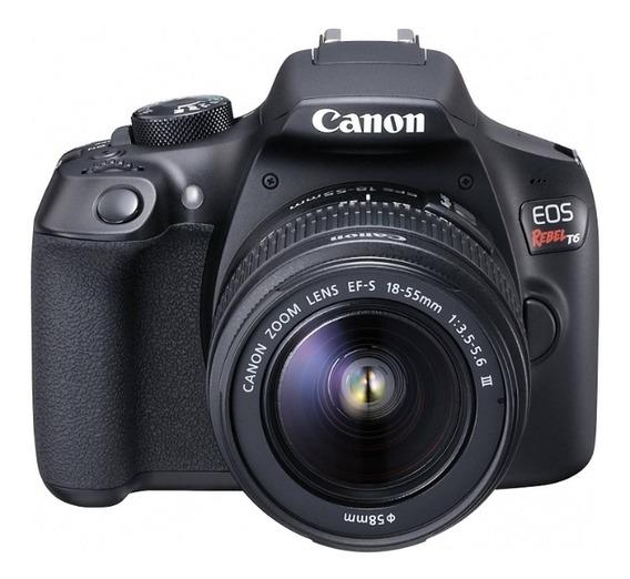 Câmera Canon Eos Rebel T6 + Bolsa