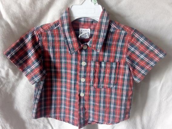 Hermosa Camisa Baby Gap 3-6 M Excelente Estado