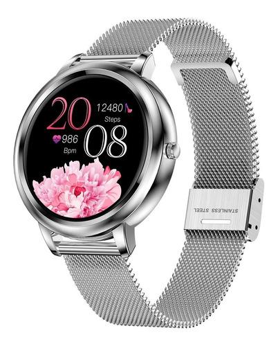 Imagen 1 de 9 de Reloj Inteligente Mujer, Pulsera Bluetooth, Pulsera Int