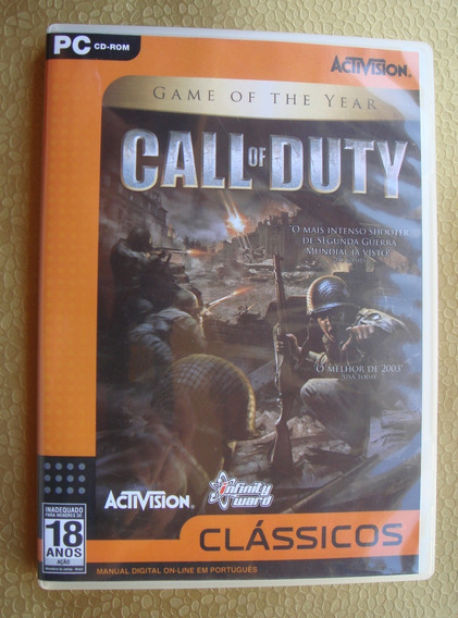 Call Of Duty 1 G.o.t.y - Original - Pc Cd-rom - Raríssimo -