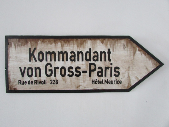 Placa Decorativa Segunda Guerra Mundial Paris Von Gross