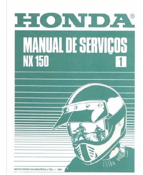 Manual De Serviço Moto Honda Nx 150 Bros Em Português