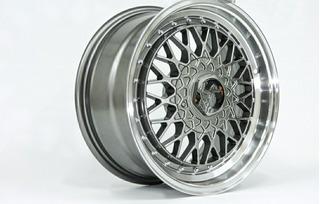 X4 Llantas Tipo Bbs 4x100/114 Gris Tuning Auto Rg_imports