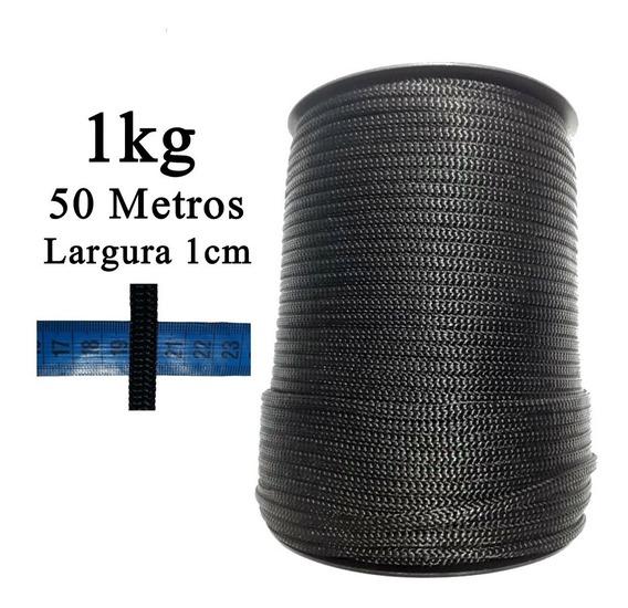Cordão Fita Laço 10mm 1cm Preto Artesanato Lembrancinhas I
