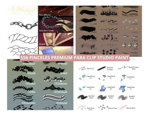 558 Pinceles Clip Studio Paint - Premium Brushes Texturas