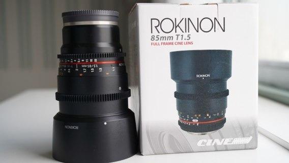 Rokinon Cine Lens 85mm T1.5 ¨canon¨