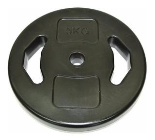 Disco 5 Kgs Manija Pvc 25 Mm Importados Body Pump Gimnasio