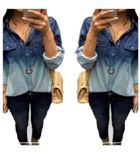 Camisa Jeans Feminina Moda Mulher Moça Garota Camisete Linda | Mercado Livre