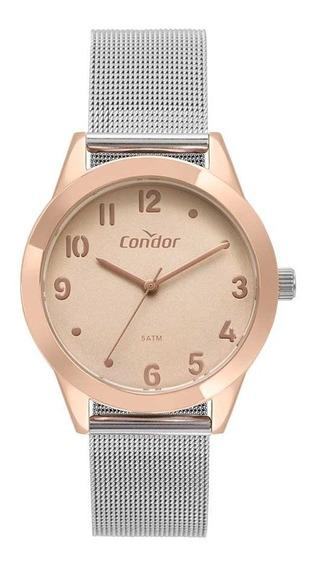 Relógio Condor Feminino Co2036kvu/4j Misto Rose Analogico