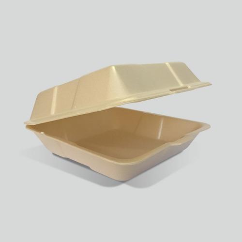 Contenedor Liso Biodegradable Reyma® 9x9 Base Fécula De Maiz