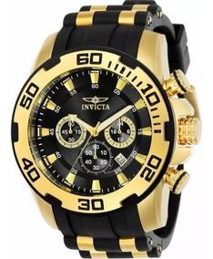 Relógio Masculino Invicita Dro Driver 22340 Original Dourado