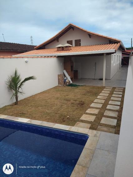 Casa Com Piscina À Venda Em Mongaguá R$ 279 Mil - Ref 7979 E
