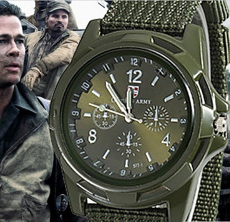 Relógio Militar Gemius Army Estilo 2º Guerra Mundial Verde