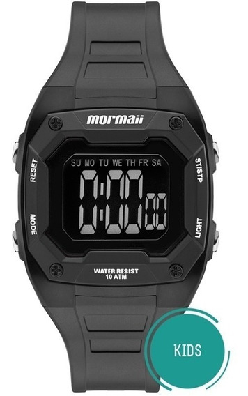 Relogio Mormaii Mo9451ab/8p Unissex Criança Wr100 Cronometro Timer Lcd-negativo 1 Ano De Garantia Nf Pronta Entreg Alarm