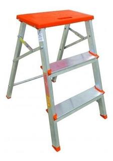 Escada Banqueta Aluminio 3 Degraus Botafogo