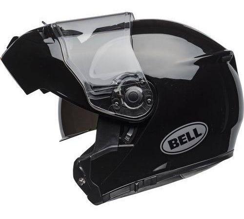 Capacete Bell Srt Modular Solid Gloss Black Articulado Tam58