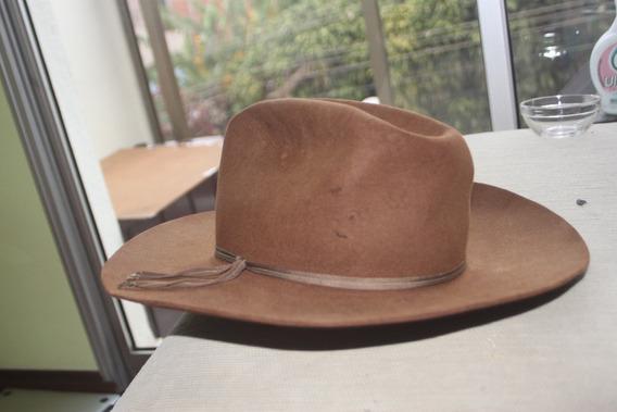 Chapeu Stetson Original Antigo Cowboy 7 1/8 58 Cm Usa