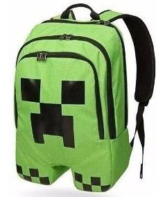 Mochila Minecraft Creeper Importada Original.envio Em 24hs