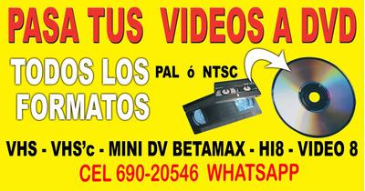 Cel 690-20546 Digitalizamos Todos Tus Casett De Vhs A Dvd