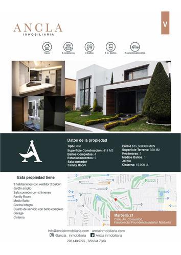 Imagen 1 de 14 de Hermosa Casa En Venta Metepec Providencia Zona Diamante