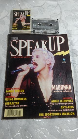 Revista Speak Up N°80 Madonna Com Fita Cassete 1993 Usada