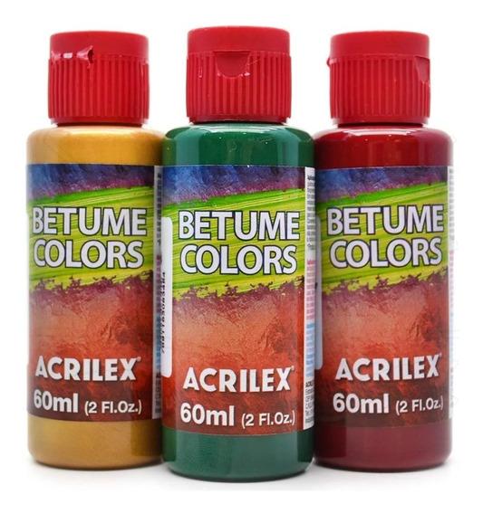Betume Colors 60ml Acrilex C/ 6 Cores A Sua Escolha