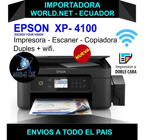 Impresora Epson  Xp4100 +duplex +wifi Mejor Q La L3110-l3150