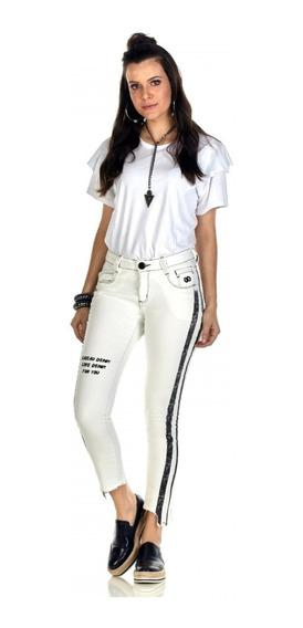 Calça Jeans Feminina Caccau Cos Medio 1252 Com Lycra